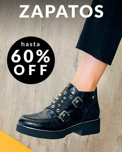 Zapatos hasta 60% Off